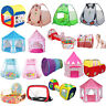 Various Play Tent Kids Toddlers Tunnel Pop Up Cubby Playhouse Indoor Outdoor Set