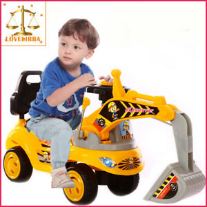 Kids Electric Excavator Music Scooter Ride-On Toys Battery-opera Toys KEX2040