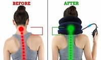 Neck Traction & Shoulder Relaxer Travel Pillow, Unisex Muscle Pain Relief Gift