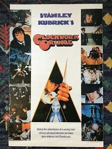 Clockwork Orange Movie Poster - Vintage Made In Britain 1981