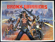 BRONX WARRIORS 1982 Mark Gregory, Fred Williamson, Vic Morrow UK QUAD POSTER