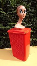 Rare clothes laundry box 1970 french mid century industrial design 70s Twiggy