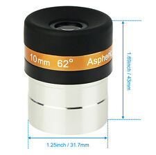 SVBONY 1.25''/31.7mm 10mm Eyepiece Lens Fully Coated for Astronomical Telescope