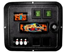 FLINTSTONES PINBALL COIN DOOR 3 PIECE MAGNETIC SET