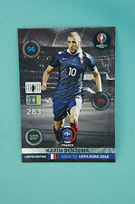Panini Adrenalyn XL Road to Uefa Euro 2016 Karim Benzema Limited Edition