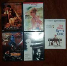 LOT OF 5 DVD Erin Brockovich The Pelican Brief Program Forrest Gump Philadelphia