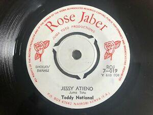 "Toddy National - Jessy Atieno / Auma KENYAN 7"" 1976 Vinyl 45 Dholuo Swahili RARE"