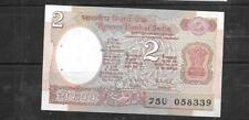 INDIA #79j 1985 UNC MINT 2 RUPEES OLD BANKNOTE PAPER MONEY CURRENCY BILL NOTE