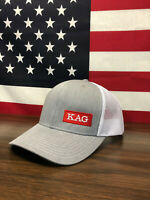 Trump KAG Keep America Great Richardson 112 Trucker Hat Heather Grey/White 2020