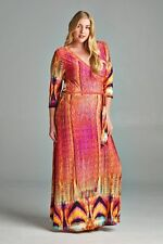 Lulu Lush Sensuous Tribal Casual Maxi Dress Sizes 14 to 18 CURVED BY NATURE
