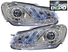 2010-2012 Volkswagen Golf GTI Chrome Projector LED Head Lights Bi-Halogen DEPO