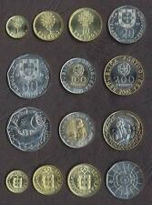 PORTUGAL COMPLETE FULL COIN SET 1+5+10+20+50+100+200 Escudos 2000 UNC LOT of 7