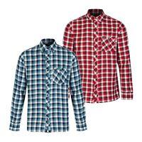 Men's Regatta Lazka Long Sleeve Coolweave Cotton Check Shirt. Small RRP £30