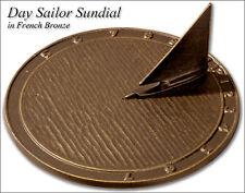 "Whitehall Day Sailor Sundial Medium Size 9.5"" Diameter - 3 Color Choices"