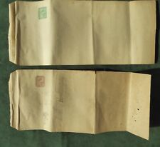 Victorian Newspaper Wrappers -Egypt Postal History- 1 m and 2 m