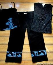 J. MARCO ~ New! Sz 6 XS Small ~ 3 PC Embroidered Flower Lace Top & Cropped Pants