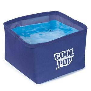 Cooling Dog Bowls Portable Water Resistant Dish with Cooler Insert Bulk Packs