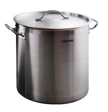 Deep Stainless Steel Stock Soup Pot 24l Stew Casserole Brew Cooking Pan INOX