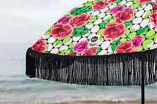 "Rose Inspired  Cute Beach Umbrella 100%UV 60""round by Beach Brella Fun!"