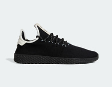 adidas Mens Pharrell Williams Tennis Hu Shoes in Black and White