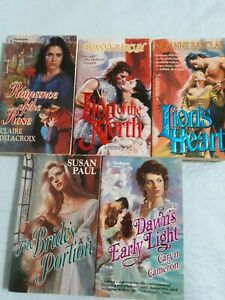 5 Harlequin Vintage Historical Romances bought new Very Good 1988-95