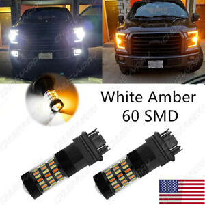 Switchback Front Turn Signal Lights for Ford F150 1990-2014 LED Bulb 3157 Canbus