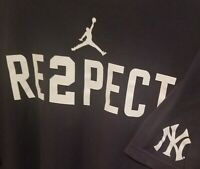 Derek Jeter - RE2PECT - Nike Jumpman - 2XL - XXL - Blue - Yankees - Free Ship !