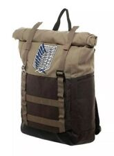 "NEW Attack on Titan Scout Regiment Roll Top Backpack rolltop Bag 18"" x 12"" $50"
