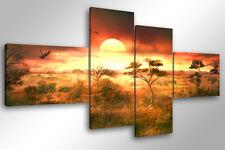 Quadro su Tela Quadri Moderni XXL cm 200x100 AFRICAN SUNSET 4 arredamento africa