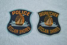 More details for st. clair shores mi police & dispatcher embroidered patches michigan