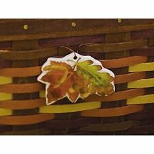 "Longaberger~ Ceramic ""Fall Foliage"" Leaves Tie-on w/ Ribbon NIB"