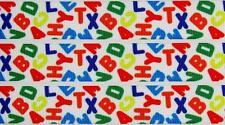 "BB Ribbon SCRAMBLED BRIGHT LETTERS 1m grosgrain 7/8"" 22mm school alphabet"