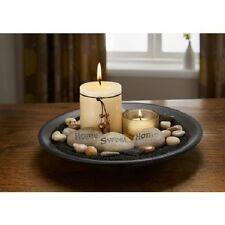 Essence Candle Set, Home Sweet Home sentiment stones. living bedroom bathroom