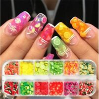 3D Nails Art Accessories Mixed Flower Fruit Slices Slicing Nail Decorations Tool