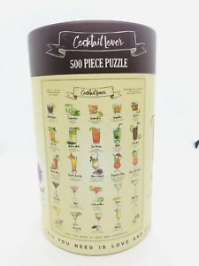 """Cocktail Lover 500 pc Puzzle 19.7""""x13.8"""" + Poster Adults BRAND NEW"""