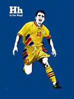 Gheorghe Hagi Retro Glossy Art Print 8x10 Inches Galatasaray Romania Football