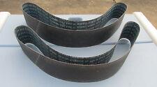 "4"" X 52 1/2"" Sanding Belts 150 Grit Silicon Carbide Walker Turner Delta 2 pieces"