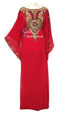 Farasha with Detailed Gem / Stone Work in Many Colours - Maxi Dubai Kaftan Dress