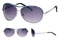 Fashion Aviator Sunglasses Pattern Design Frame Full Colour Tint Lens UV400 BNWT