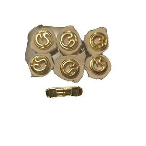 St John gold Replacement Buttons Lot of 6