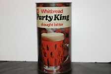 Whitbread Party King Draught Bitter Flat Top Empty Beer Tin, 4 pints