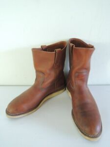 RED WING Traction Tred Pecos 9-Inch Soft Toe Pull-On Boots 866 Size 9.5 E