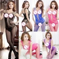 GN- Sexy Open Crotch Mesh Fish Net Body Stocking Lingerie Bodysuit Nightwear Nov