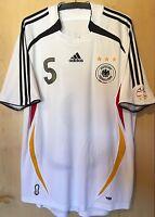 DFB Trikot WM 2006 Gr.L #5 Beckenbauer Deutschland Shirt Jersey Fan Sammler