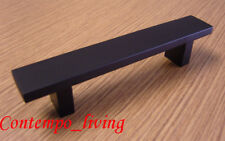 "6"" Black Square Kitchen Cabinet Pull Handle Hardware"