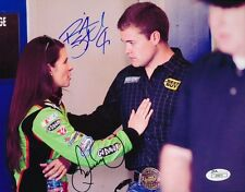 DANICA PATRICK & RICKY STENHOUSE JR. SIGNED AUTOGRAPH 8X10 PHOTO NASCAR JSA