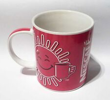 "NESCAFE COFFEE Red Mug Cup from MALAYSIA Ideally Balanced Sun Design 3.5"" Tall"