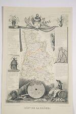 Carte ancienne illustrée Levasseur vers 1860 Département la DROME 26
