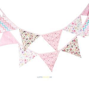 3.2M Vintage Party Wedding Pennant Bunting Banner Girl Kids Room Birthday Decor