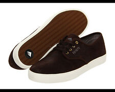 EMERICA Leo ROMERO Laced SUEDE Leather SKATE Board SHOES Brown SNEAKER Men